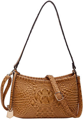 MKF Collection by Mia K. Women's Handbags Sand - Sand Croc-Embossed Lisbeth Shoulder Bag