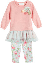 Bonnie Baby 2-Pc. Tulle Sweater Tunic & Leggings Set, Baby Girls (0-24 months)
