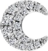 Maria Tash Diamond Moon Threaded Stud Earring