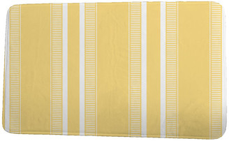 "e by design Upscale Getaway Dashing Stripe Stripe Print Bath Mat, Yellow, 18""x30"""