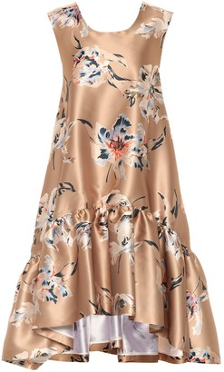 Rochas Floral satin dress