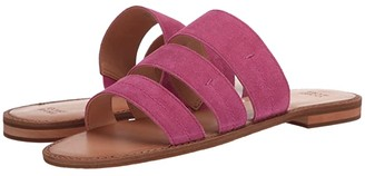 Frye AND CO. Evie 3 Band Slide (Blue Multi Metallic Full Grain/Denim/Suede) Women's Sandals