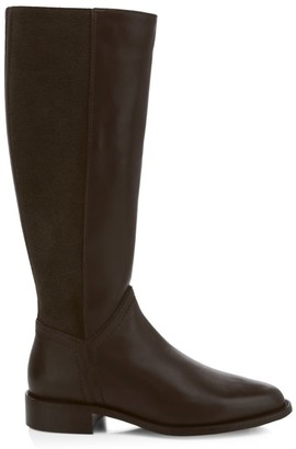 Aquatalia Nia Knee-High Stretch-Suede & Leather Boots