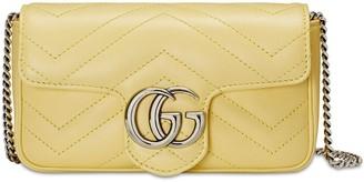 Gucci Super Mini Gg Marmont Leather Bag