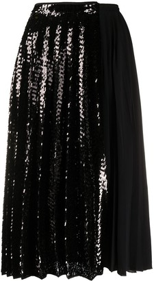 No.21 Sequinned Pleated Skirt