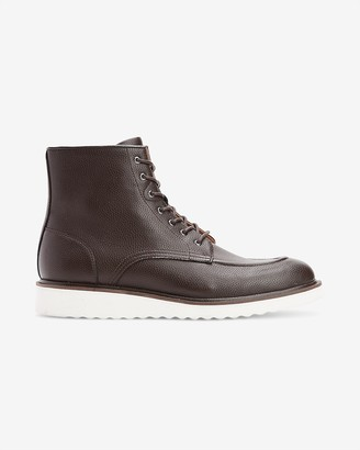 Express Vegan Leather Sneaker Boots