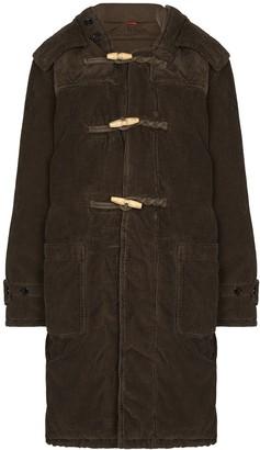 Denimist Corduroy Toggle Hooded Duffle Coat