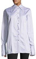 Helmut Lang Long-Sleeve Striped Oversized Button-Front Shirt