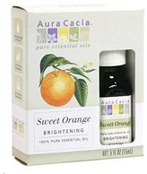 Aura Cacia Pack of 1 x Essential Oil Sweet Orange - 0.5 fl oz