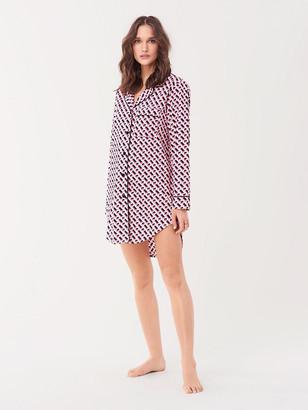 Diane von Furstenberg Cotton Pajama Shirt Dress