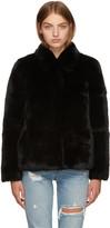 Meteo by Yves Salomon Black Fur Jacket