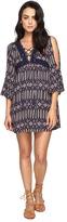 Brigitte Bailey Sharmela Long Sleeve Dress with Tassels