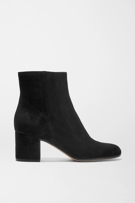 Gianvito Rossi Margaux 65 Suede Ankle Boots - Black