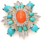 Kenneth Jay Lane Crystal & Resin Brooch