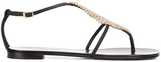 Giuseppe Zanotti Crystal Mesh Sandals