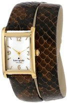 Kate Spade Women's 1YRU0291 Brown Embossed Snake Cooper Wrap Strap Watch