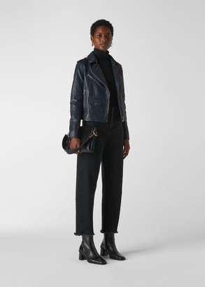 Agnes Pocket Leather Jacket