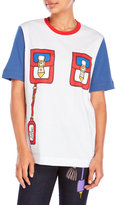 Love Moschino Color Block Pocket Print Tee