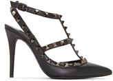 Valentino Black Rockstud Cage Heels