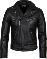 Nudie Jeans Ziggy Black Punk Leather Jacket
