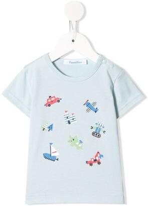 Familiar graphic-print crew neck T-shirt