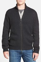 AG Jeans Men's Textured Knit Zip Sweater