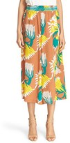 Tracy Reese Women's Floral Print Wide Leg Silk Culottes