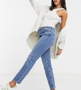 Reclaimed Vintage The '95 straight leg jean in mid stone wash-Blue