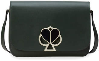 Kate Spade Nicola Medium Twist-Lock Leather Shoulder Bag