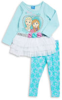 Nannette Girls 2-6x Princess Top and Leggings Set