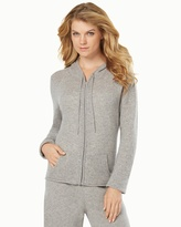 Soma Intimates Cashmere Hoodie Heather Silver