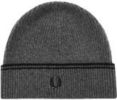 Fred Perry Twin Tipped Lambswool Beanie Hat Grey
