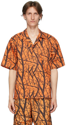 John Elliott Orange Camp Shirt