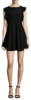 KENDALL + KYLIE Flutter Sleeve Fit And Flare Dress