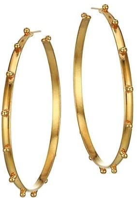 Sylvia Toledano Extra-Large Creole 22K Goldplated Hoop Earrings