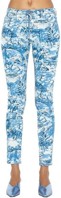 Off-White Tapestry Cropped Jeans