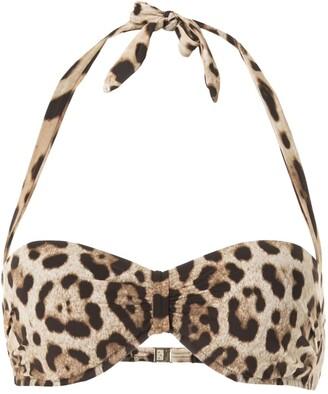 Dolce & Gabbana Leopard Print Bikini Top