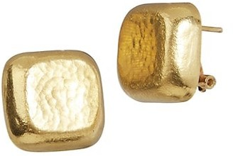 Gurhan Bon-Bon 18K & 24K Yellow Gold Hammered Square Stud Earrings