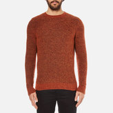 Folk Textured Knitted Jumper Rust