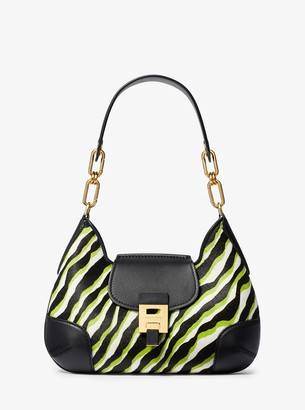 Michael Kors Bancroft Medium Zebra Calf Hair Shoulder Bag