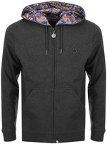 Pretty Green Busby Paisley Hoodie Grey