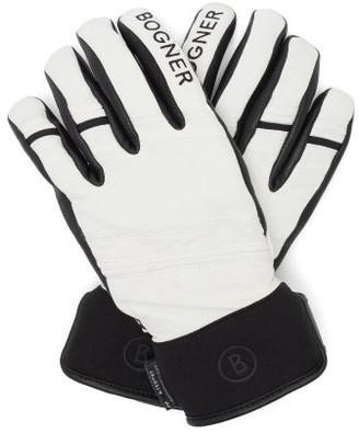 Bogner Thor Leather Ski Gloves - White
