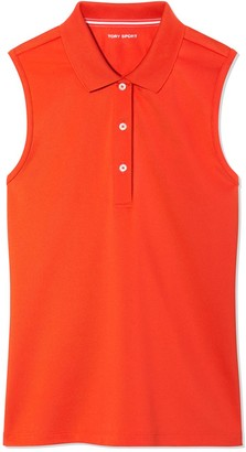 Tory Burch Tech Pique Sleeveless Polo