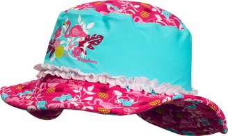 Playshoes Girl's UV Sun PRedection Sun Hat Swim Cap Flamingo