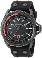 Diesel Men's DZ1760 Rollcage Black Ip Silicone Watch