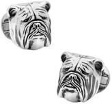 Ox & Bull Trading Co. Men's Sterling Silver 3D Bulldog Cufflinks