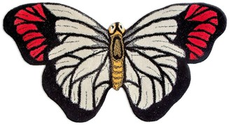 Butterfly Wool Rug For Lvr