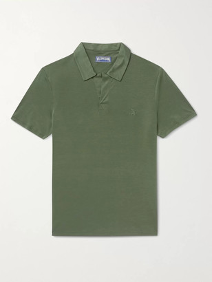 Vilebrequin Pirinol Tencel Polo Shirt - Men - Green