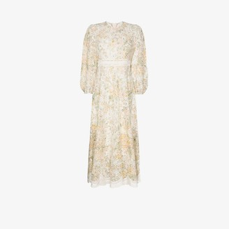 Zimmermann Amelie floral broderie anglaise cotton dress