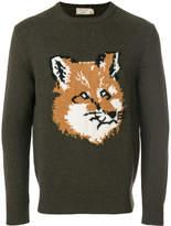 MAISON KITSUNÉ fox crew neck sweater